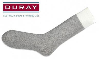Duray Original Thermal Wool Sock, Natural Grey, Size Large #1250?>