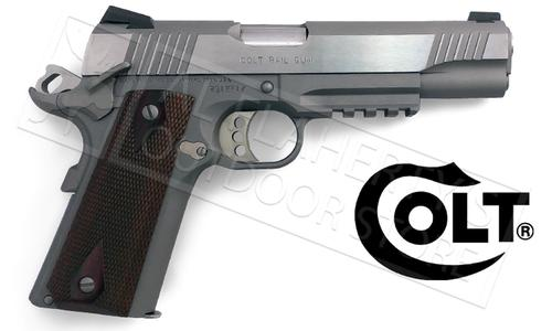 Colt 1911 Rail Gun Government Frame 45ACP #01070RG?>