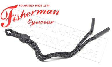 Fisherman Eyewear Rubber Tip Retaining Cord for Glasses, BLack #90063?>