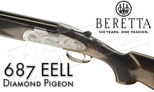 Beretta Shotgun 687 EELL Diamond Pigeon Over-Under Field with Floral Engraving in 12 or 20 Gauge #3D9/G364005T1?>