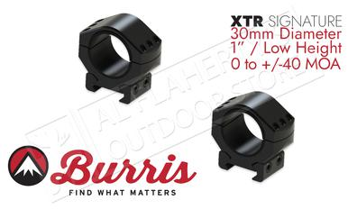 "Burris XTR Signature Rings, 30mm Diameter 1"" Height Customizable Cant #420221?>"
