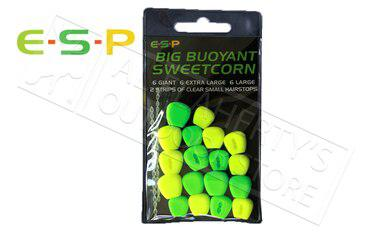 E-S-P Big Buoyant Sweetcorn - Artificial, Green & Yellow 18 Kernels #ESCORN-G?>