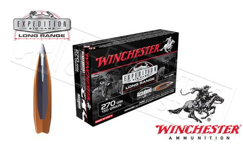 Winchester 270 WIN AccuBond Expedition LR, Polymer Tipped Boat-Tail 150 Grain Box of 20 #S270LR?>