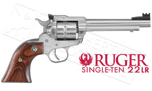 "Ruger Single-Ten Revolver, Stainless Steel .22LR 5.5"" Barrel #8100?>"