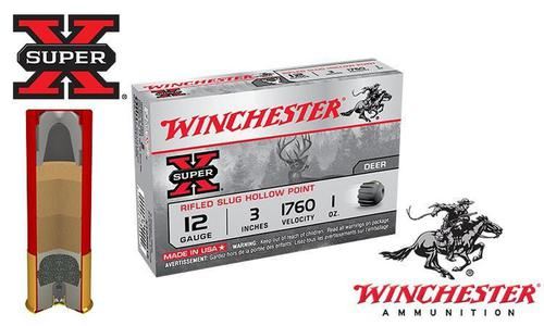 "Winchester Super X Rifled Slugs 12 Gauge 3"" Box of 5 #X123RS15?>"
