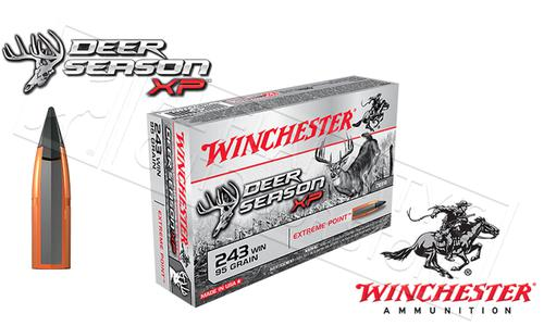 Winchester 243 WIN Deer Season, Polymer Tipped 95 Grain Box of 20 #X243DS?>