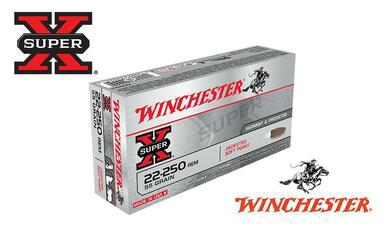 Winchester 22-250 Rem Super X, Jacketed Soft Point 55 Grain Box of 20 #X222501?>