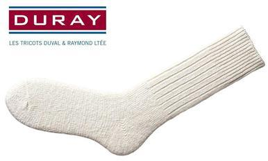 Duray Ultimate Thermal Wool Work Sock, Natural White, Size Large #1160?>