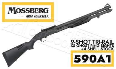 Mossberg 590A1 Shotgun 9-Shot with XS Ghost Ring Sights, 12G #51771?>