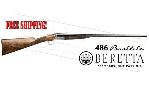 "Beretta Shotgun 486 Parallelo Side-By-Side with Floreal Engraving 12 or 20 Gauge, 3"" Chamber, 28"" Barrel #J486210?>"