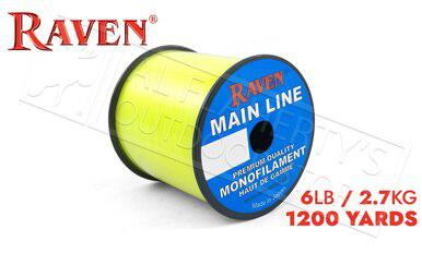 Raven Main Line Monofilament, Yellow 6lb 1200 Yards #RVML06-Y?>
