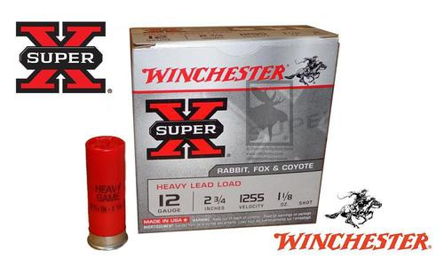"Winchester Super X Heavy Upland Shells 12 Gauge #2, 4, 6, 7-1/2 Shot, 2-3/4"", 1-1/8 oz., 1255 fps, Box of 25 #W12H?>"