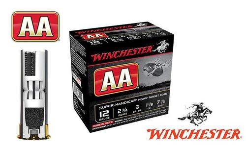 "(Store Pick up Only) Winchester AA Super-Handicap 12 Gauge #7.5, 2-3/4"", 1-1/8 oz., Case of 250 #AAHA127-CASE?>"