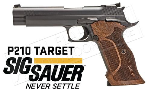SIG Sauer Handgun P210 Target SAO with Adjustable Sights and Walnut Grips #210A-9-TGT?>