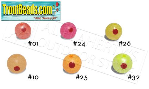 TroutBeads.com Trout Beads BloodDotEggs, 8mm Packs of 15, Various Patterns #BD08?>
