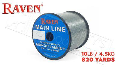 Raven Main Line Monofilament, Moss Green 10lb 820 Yards #RVML10-G?>