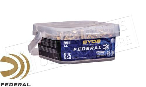 Federal Ammunition Bring Your Own Bucket Rimfire Ammo 22 LR, Copper Plated HP, 36 Gr, 825 Rnd Bucket #750BKT825?>