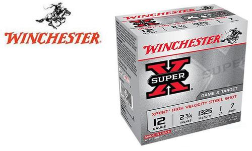 "Winchester Super X Xpert High Velocity Waterfowl Shells 12 Gauge 2-3/4"" #6 or 7 Shot, 1 oz., 1325 FPS, Box of 25 #WE12GT?>"