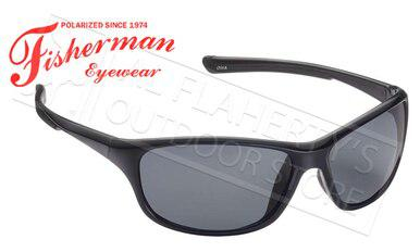 Fisherman Eyewear Cruiser Polarized Sunglasses, Black with Grey Lens #50470001?>