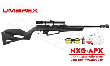 Umarex NXG APX Kit .177 Multi-Pump Black Youth air Rifle with 4x15 Scope 490 FPS #2251603?>