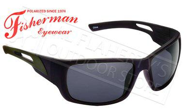 Fisherman Eyewear Hazard Polarized Sunglasses, Black with Grey Lens #50463001?>