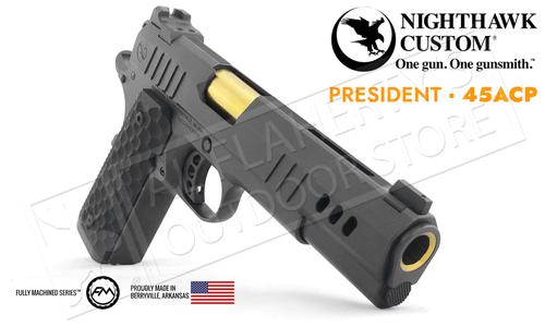 Nighthawk Custom 1911 President Black with Gold Highlights 45ACP?>