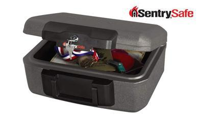 Sentry Safe Small Lock Chest with Handle #1210?>