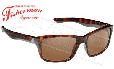 Fisherman Eyewear Cabana Polarized Glasses, Crystal Brown Tortoise Frame with Brown Lens #50330202?>