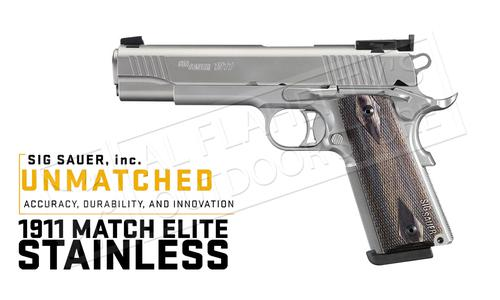 SIG Sauer Handgun 1911 Traditional Match Elite Stainless, 9mm #1911T-9-SME?>
