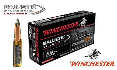 Winchester .223 Rem Ballistic Silvertip Lead-Free, Polymer Tipped 35 grain Box of 20 #S223RLF?>