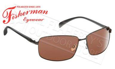Fisherman Eyewear Harbor Polarized Sunglasses, Black with Copper Lens #50260003?>