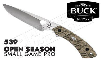 Buck Knives 539 Open Season Small Game Knife Pro with Sheath #539ODS-B?>