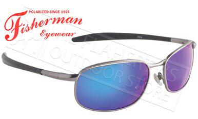 Fisherman Eyewear Blacktip Polarized Sunglasses, Gunmetal with Blue Mirror Lens #96100708?>