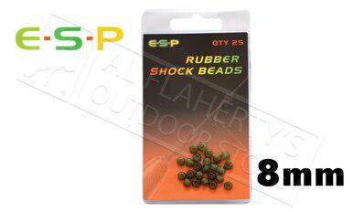 E-S-P Rubber Shock Beads, 8.0mm Pack of 25 #ESBD80?>