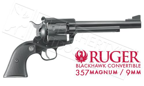 Ruger New Model Blackhawk Convertible Single-Action Revolver, 9mm & .357 Magnum #0318?>