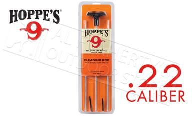 Hoppes Cleaning Rod for .22 Caliber, 3-Piece Aluminum #3PA22?>