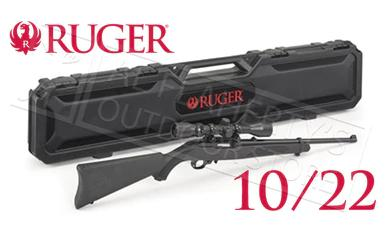 Ruger 10/22 Carbine Combo with Weaver Scope and Hard Case #21194?>