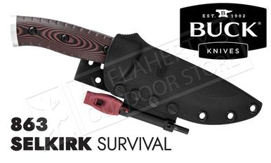 Buck Knives 863 Selkirk Survival Knife with Fire-Starter #0863BRS-B?>