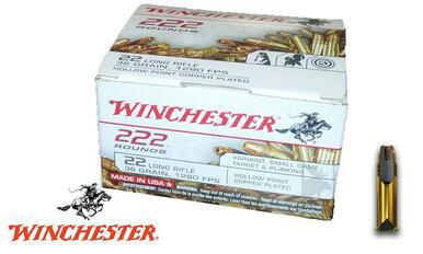 Winchester 222 Value Pack .22LR, 222 Rounds 36-Grain Jacketed Hollow-Point #22LR222HP?>