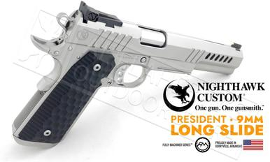 Nighthawk Custom 1911 President Stainless Steel Long Slide 9mm?>