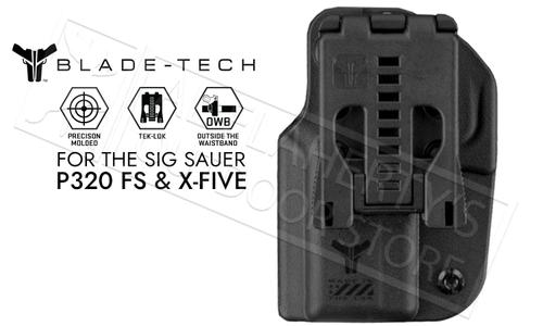 Blade-Tech Signature OWB Holster For SIG P320 FS and X-Five Series Pistols #HOLX0008S320FSTLBLKRH?>