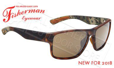 Fisherman Eyewear Maverick Polarized Glasses, Tortoise Frame with Brown Lens #50633202?>