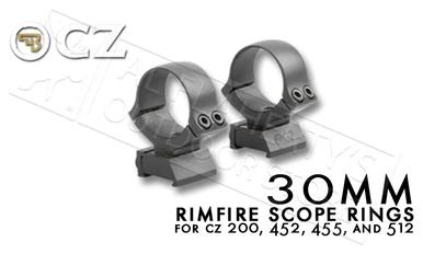 CZ 30mm Rimfire Scope Rings for CZ 455 Rifles #6693700001ND?>