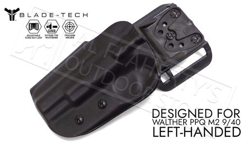 "Blade-Tech Original Holster for Walther PPQ M2 5"", Left-Handed D/OS with ASR Mount #HOLX000889032102?>"