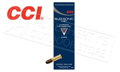 CCI 22LR Subsonic HP, 40 Grain Box of 100, $109.90  for 1k #0056?>