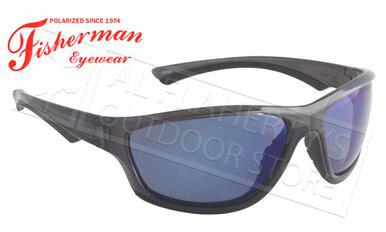 Fisherman Eyewear Rapid Polarized Glasses, Crystal Black Frame with Blue Mirror Lens #96100722?>