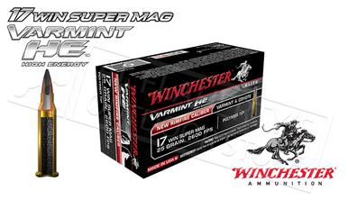 Winchester 17WSM Varmint HE, 25 Grain Box of 50 #S17W25?>