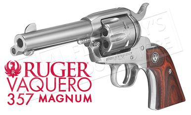 "Ruger Vaquero Stainless Single-Action Revolver, 4-5/8"" Barrel .357 Magnum #5109?>"