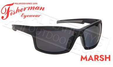 Fisherman Eyewear Marsh Polarized Sunglasses, Matte Black Frame with Gray Lens #50683001?>
