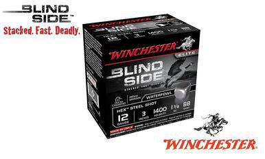 "Winchester Elite Blind Side Waterfowl Shells 12 Gauge 3"" #BB, 1, 2, 3, 5,  Shot, 1-3/8 oz., 1400 FPS, Box of 25 #SBS123?>"